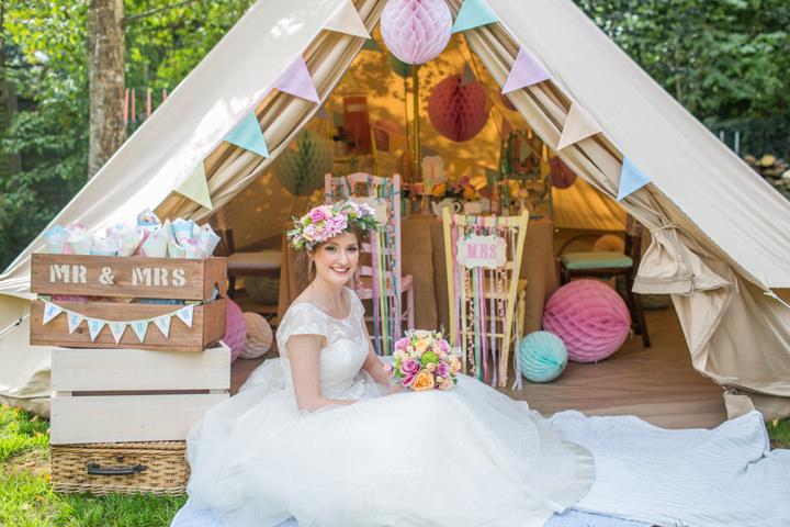 Caribbean Boho Wedding Inspiration: Dreamy Pastel Glamping Wedding Inspiration From Chateau