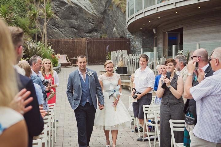 16 Beach Side Devon Wedding. By Cotton Candy