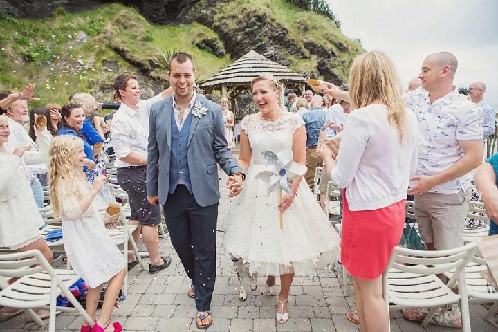 22 Beach Side Devon Wedding. By Cotton Candy