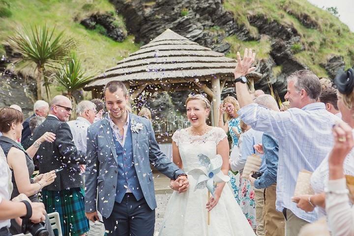 4 Beach Side Devon Wedding. By Cotton Candy