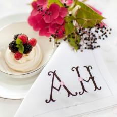 initials on linen napkin - Copy