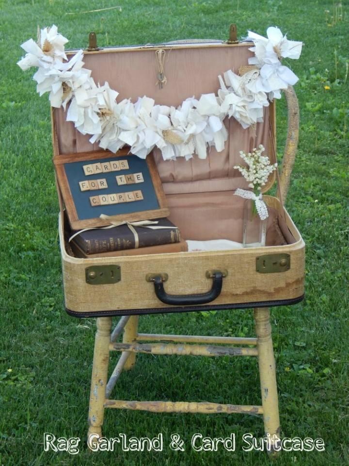 DIY Tutorial - Rag Garland and Card Suitcase