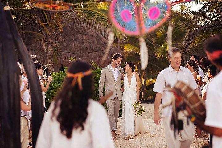 22 Bohemian Beach Wedding in Mexico. By Quetzal Photo