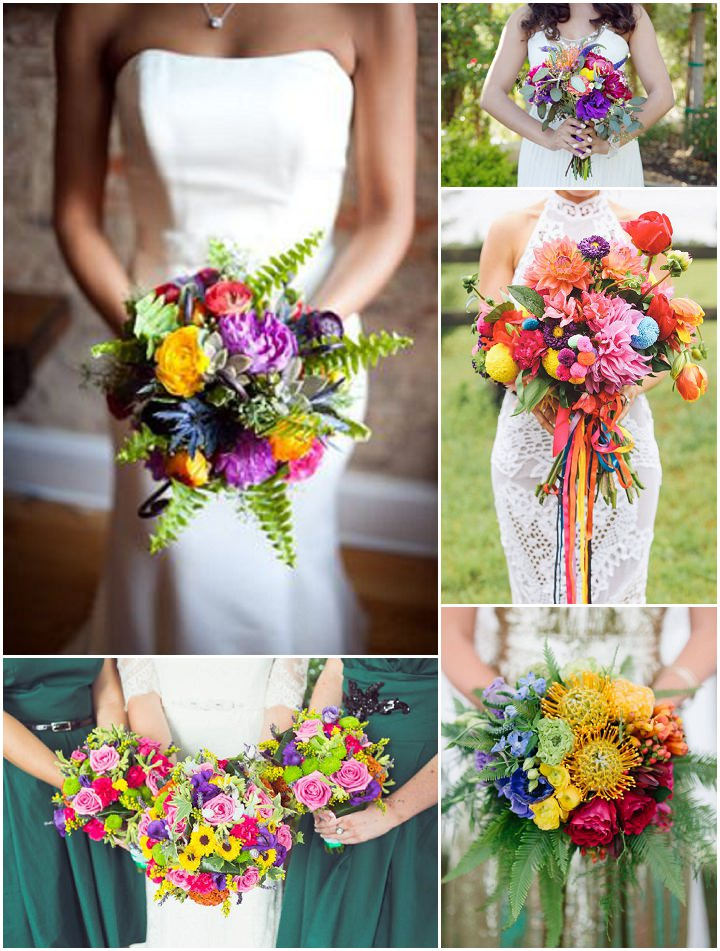 Ideas And Inspiration For Your Rainbow Wedding Boho