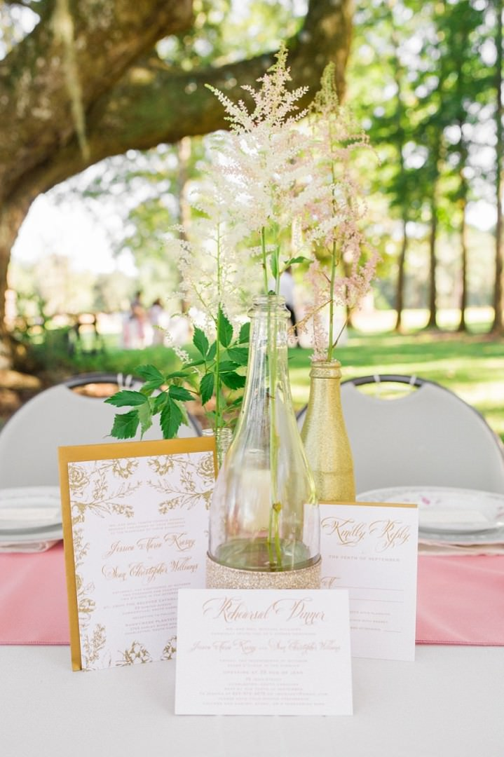 13 Pink and Gold Outdoor Wedding by Priscilla Thomas Photography