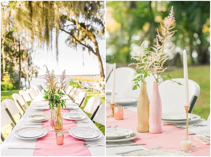 2 Pink and Gold Outdoor Wedding by Priscilla Thomas Photography