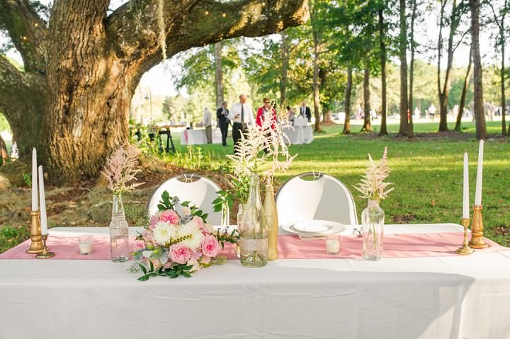 23 Pink and Gold Outdoor Wedding by Priscilla Thomas Photography