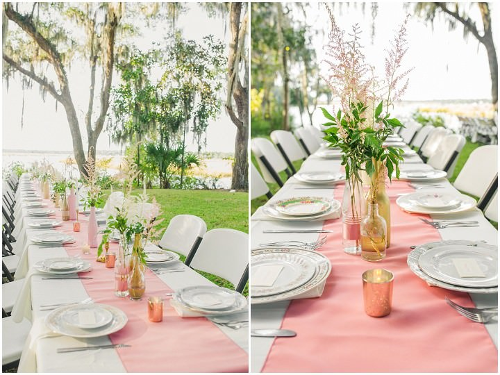 24 Pink and Gold Outdoor Wedding by Priscilla Thomas Photography