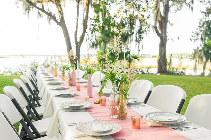 25 Pink and Gold Outdoor Wedding by Priscilla Thomas Photography