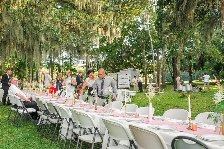 26 Pink and Gold Outdoor Wedding by Priscilla Thomas Photography