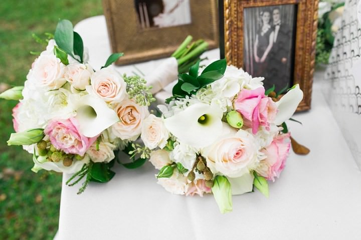 28 Pink and Gold Outdoor Wedding by Priscilla Thomas Photography