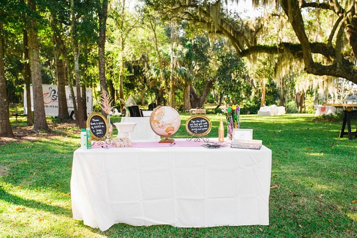 33 Pink and Gold Outdoor Wedding by Priscilla Thomas Photography