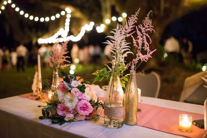 41 Pink and Gold Outdoor Wedding by Priscilla Thomas Photography
