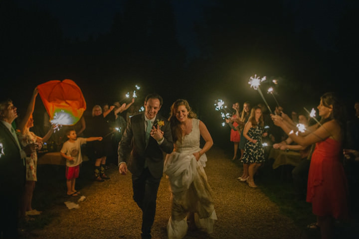 Red and Rustic Outdoor Wedding by Darcy Ferris Photography