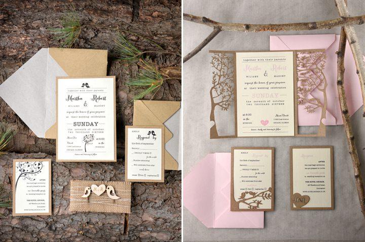 Boho Loves 4 LOVE Polka Dots Hand Made Rustic Wedding Stationery