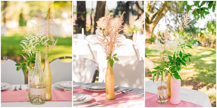 7 Pink and Gold Outdoor Wedding by Priscilla Thomas Photography
