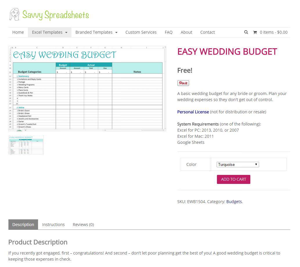 Boho loves savvy spreadsheets wedding budget speadsheets free for savvyspreadsheetseasy wedding budget free junglespirit Choice Image