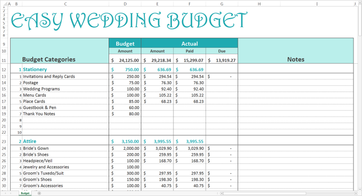 boho loves savvy spreadsheets wedding budget speadsheets free for