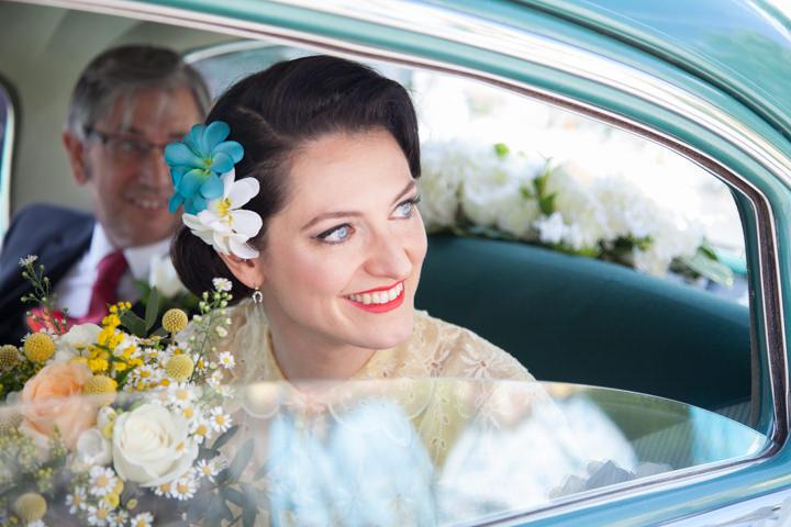 14 1950s Rockabilly Wedding With a Yellow Wedding Dress