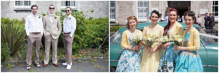 15 1950s Rockabilly Wedding With a Yellow Wedding Dress