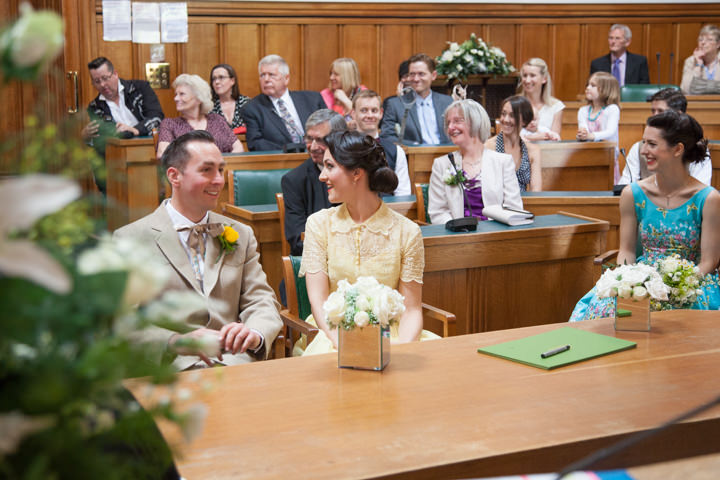 17 1950s Rockabilly Wedding With a Yellow Wedding Dress