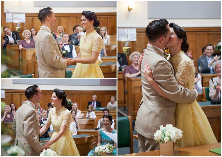 18 1950s Rockabilly Wedding With a Yellow Wedding Dress