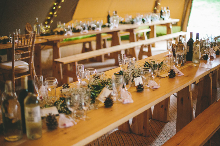 2 Tipi Wedding, by Ellie Grace Photography