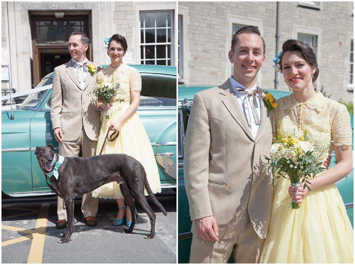 21 1950s Rockabilly Wedding With a Yellow Wedding Dress