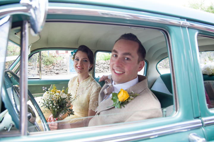 22 1950s Rockabilly Wedding With a Yellow Wedding Dress
