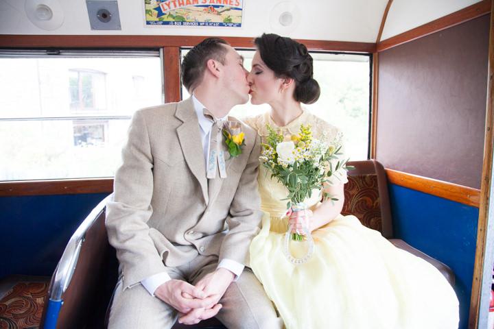 24 1950s Rockabilly Wedding With a Yellow Wedding Dress