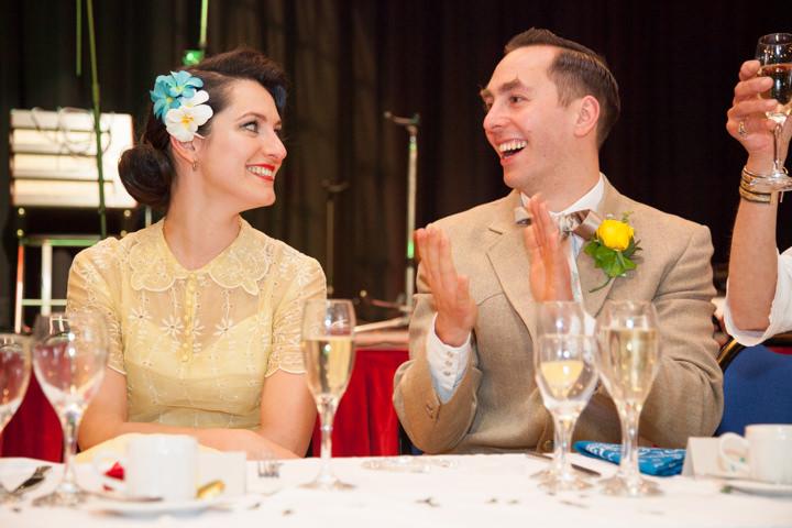 33 1950s Rockabilly Wedding With a Yellow Wedding Dress