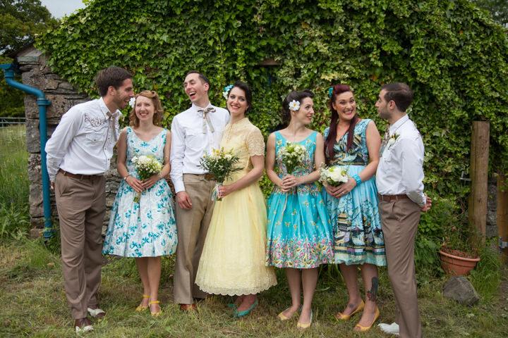 35 1950s Rockabilly Wedding With a Yellow Wedding Dress