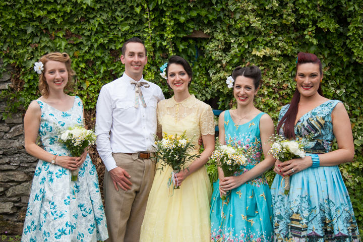 36 1950s Rockabilly Wedding With a Yellow Wedding Dress