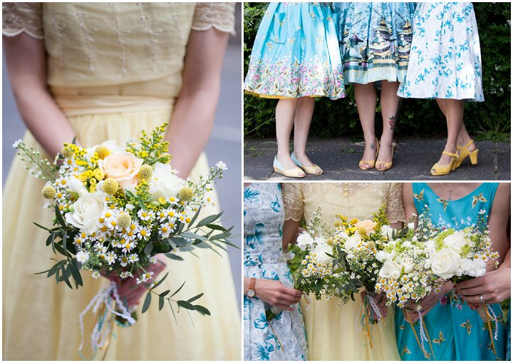 37 1950s Rockabilly Wedding With a Yellow Wedding Dress