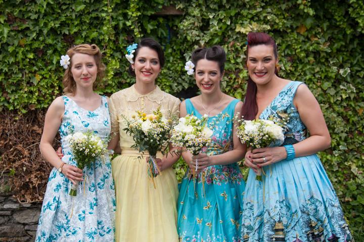 4 1950s Rockabilly Wedding With a Yellow Wedding Dress