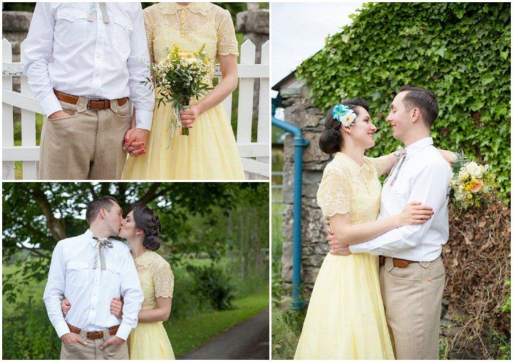 40 1950s Rockabilly Wedding With a Yellow Wedding Dress