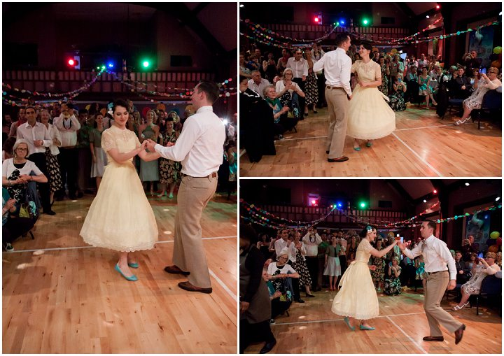 44 1950s Rockabilly Wedding With a Yellow Wedding Dress
