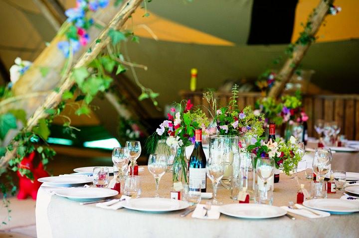 2 Back Garden Tipi Wedding By Babb Photo