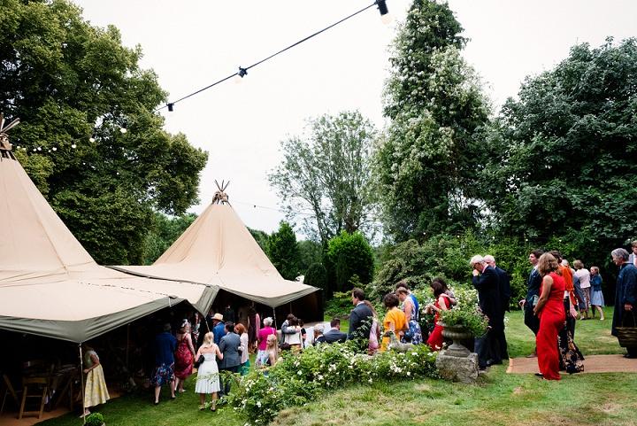 23 Back Garden Tipi Wedding By Babb Photo