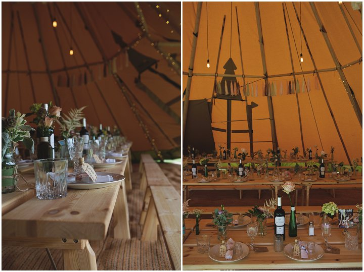 Alternative Outdoor Humanist Tipi Wedding in Kent by Devlin Photos