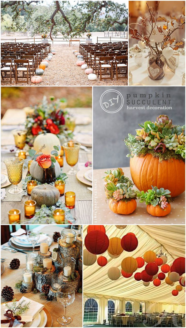 Ideas and inspiration for your autumn wedding boho for Autumn wedding decoration ideas