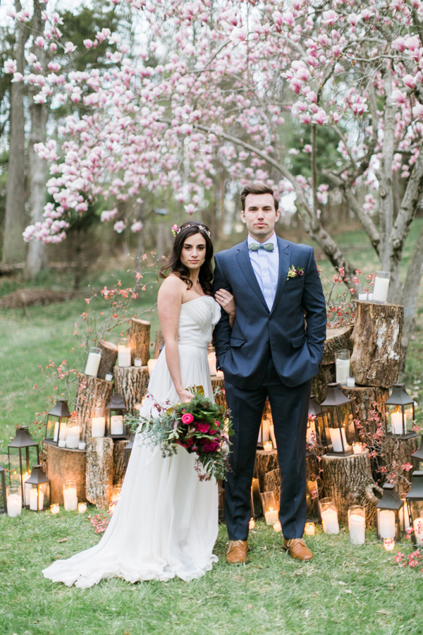 Ruffled - photo by Emily Wren http://ruffledblog.com/woodland-romance-wedding-inspiration