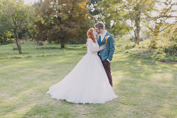Autumnal Elmore Court Wedding Couple Gloucestershire Wedding By Scuffins Photography