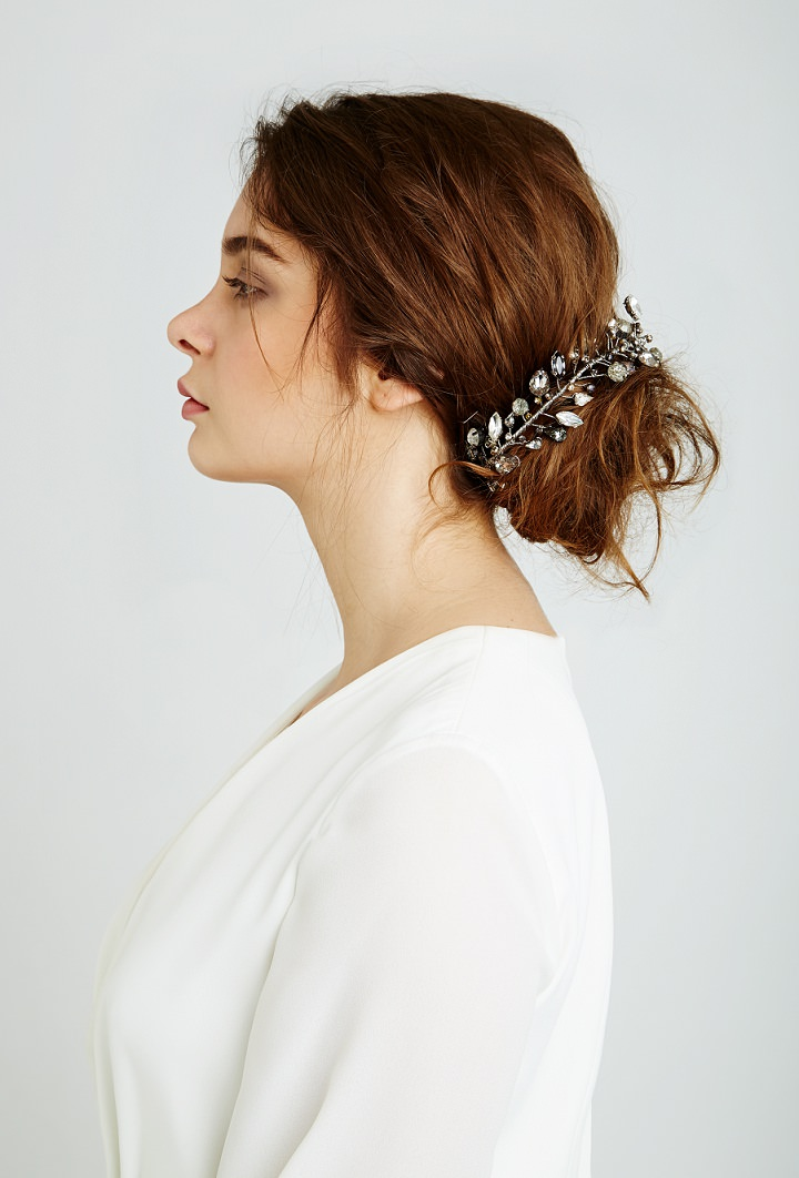 Feather and Coal bun accessories - Beautiful and Unique Bridal Hair Accessories