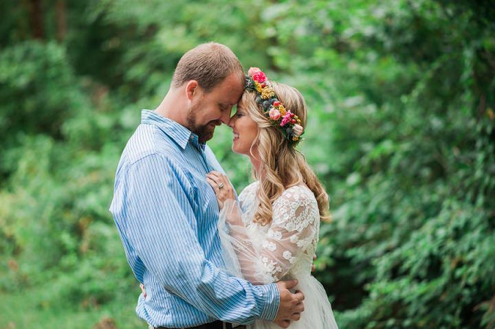 North Carolina Boho BrideWedding By Heather and Jared Photography