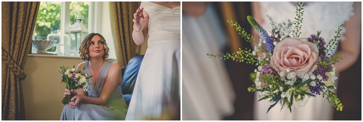 Chloe and Paul's Outdoor Autumn Wedding with bridesmaids in North Wales By Lottie Elizabeth Photography