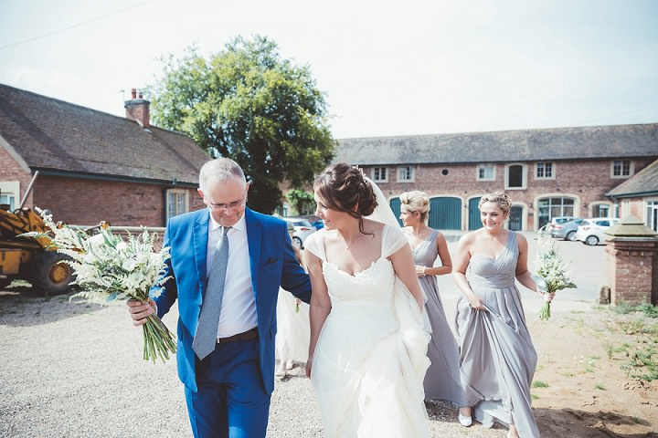 Father and Daughter at Doddington Hall Lincolnshire Wedding By Phillipa James Photography