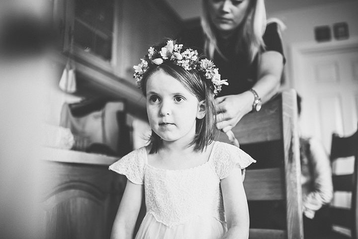 Handmade Wedding with flowergirls at The Thatched Cottage in Derry by Paula Gillespie