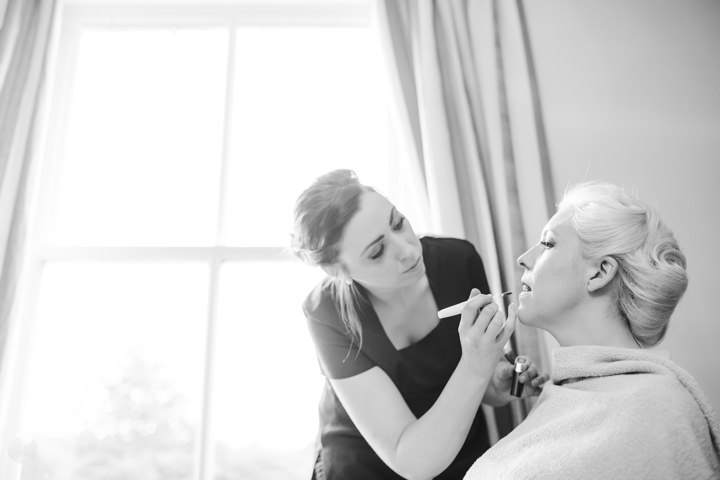 Bride getting ready Vintage Inspired Great Yarmouth Town Hall Wedding By Tatum Reid Photography