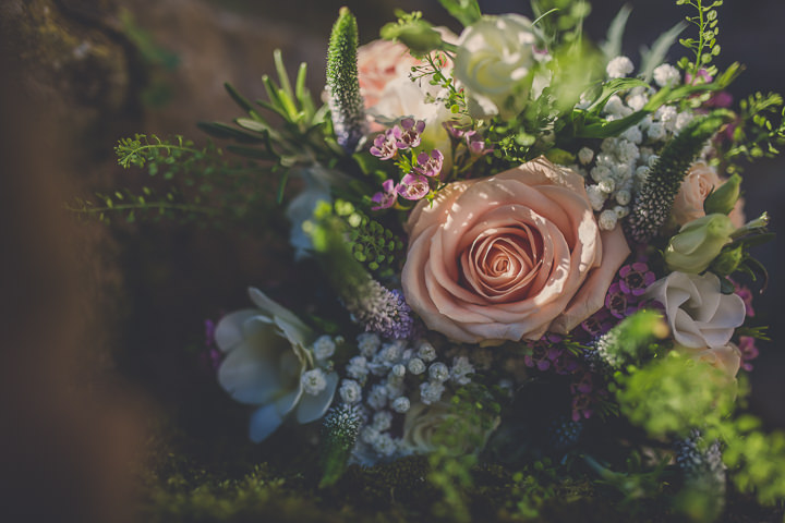Chloe and Paul's Outdoor Autumn bouquet Wedding in North Wales By Lottie Elizabeth Photography